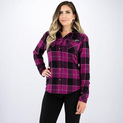 FXR flanell skjorte med hette for dame