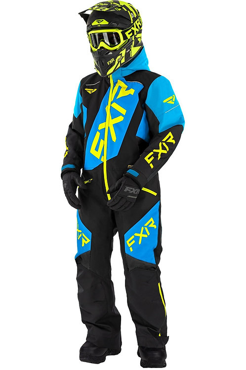 FXR Monosuite ungdom svart/gul/blå
