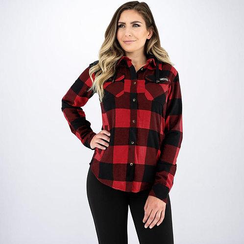 FXR flanells skjorte med hette for dame