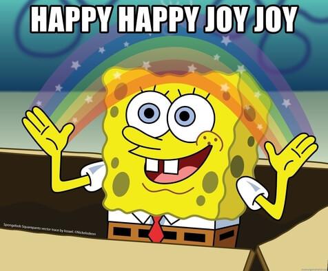 Meme: Happy Joy Sponge Bob