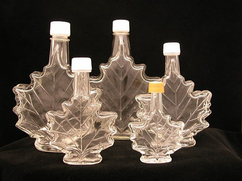 250ml Maple Leaf Glass Bottle