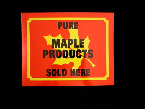 Cardboard Maple Products for Sale Sign