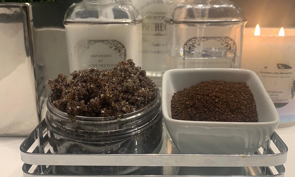 Dead Sea Salt w/ ground coffee