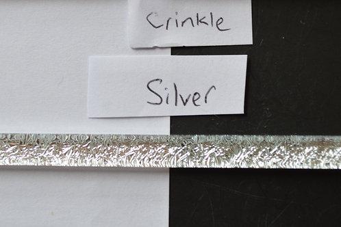Silver Crinkle Dichroic Strip