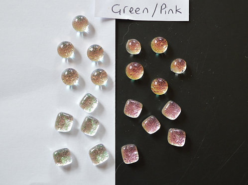 Dichro Dots Green/Pink