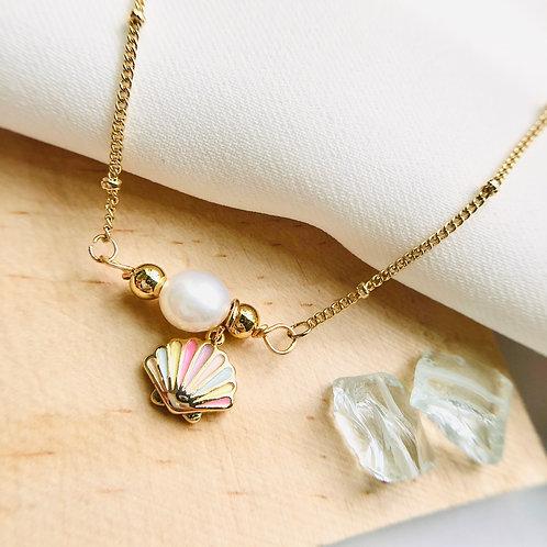 Pearl in Life's Ocean (Freshwater pearl, 14K Plating)