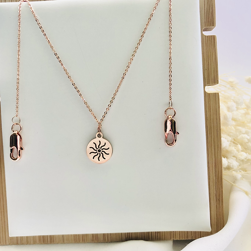 2-Way Sunny Mask Chain/Necklace (Rose Gold)