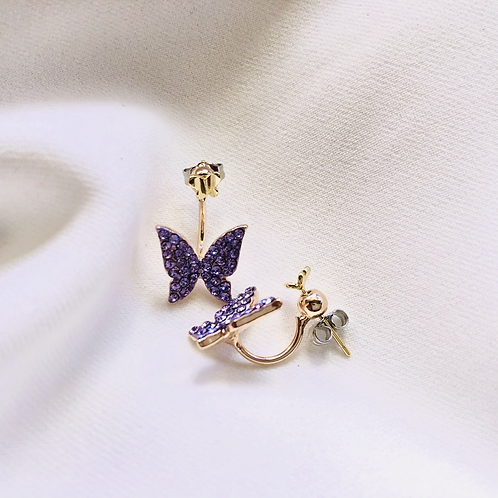 Fly Under (925 Butterfly Stud)