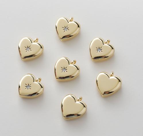 Shimmery Heart   17 x 9 mm