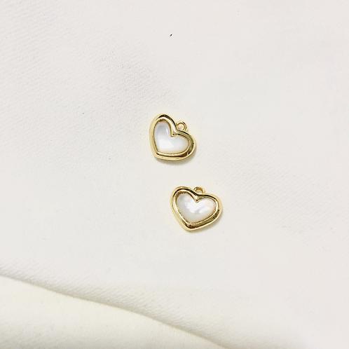 Seashell Heart.18K | 13 x 10mm (S)