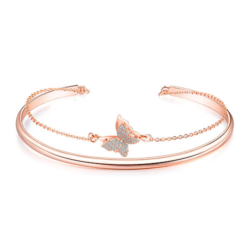 Butterfly Cuff (Rose Gold)