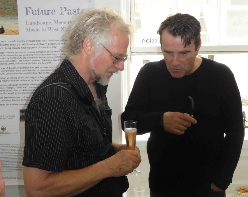 Robert and Prof. John Strachan, Vice-Provost for Research at Bath Spa University