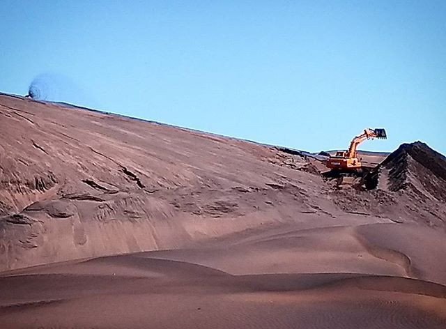 Brand de Baai ilmenite mine. Photo: Sian Sullivan 060917.