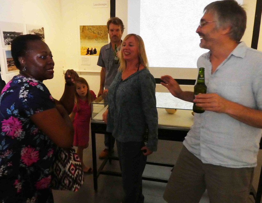 Bath Spa University historian Dr Olivette Otele with Mike Hannis