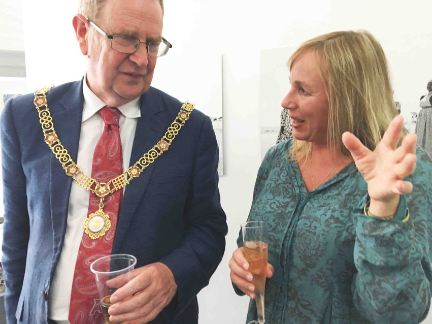 Sian Sullivan chats with Ian Gilchrist, Mayor of Bath