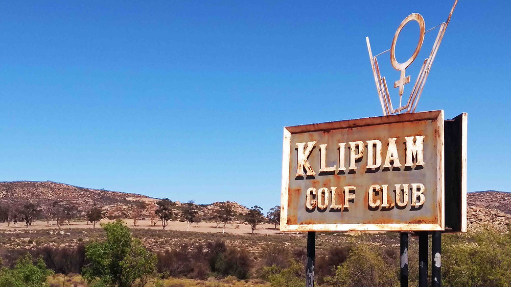 Abandoned golf club at the post-mining town of Okiep. Photo: Sian Sullivan 100917.