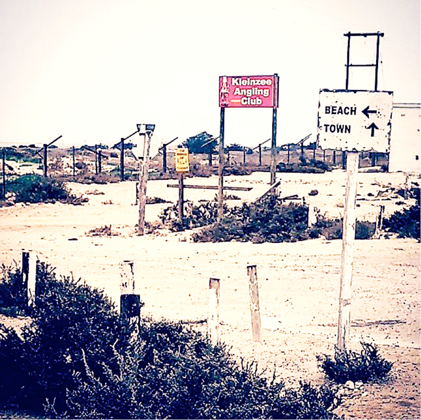 Diamonds are forever - but diamond mining is not. The emptied town of Kleinsee on the diamond coast of the Northern Cape, 11th Sept. Photo: Sian Sullivan 110917.