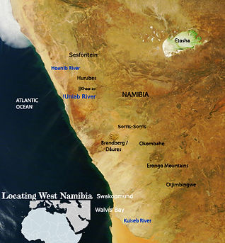 West Namibia map compiled by Sian Sulliv