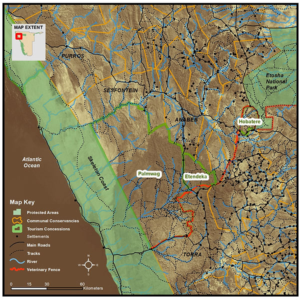 Boundaries of current tourism concession