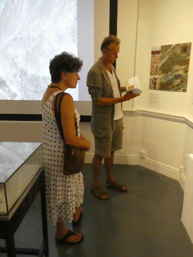 John Martineau and Linda Stocks in the landscape room