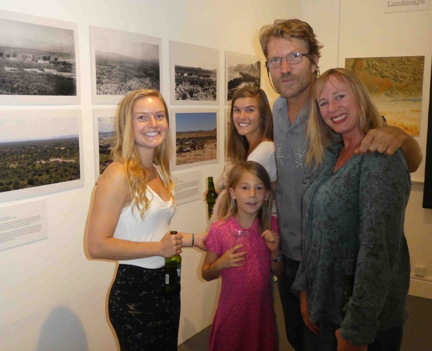 Sian with the Botelle clan at Rick Rohde's landscape repeat photographs