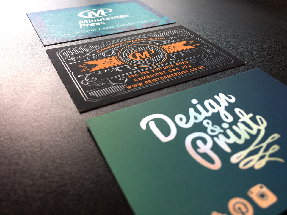 Business card print and design service