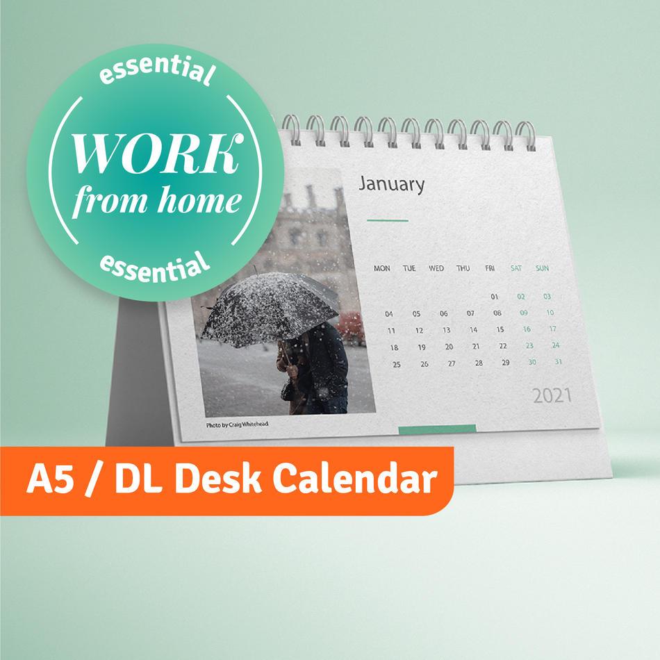 A5 / DL Desk calendar