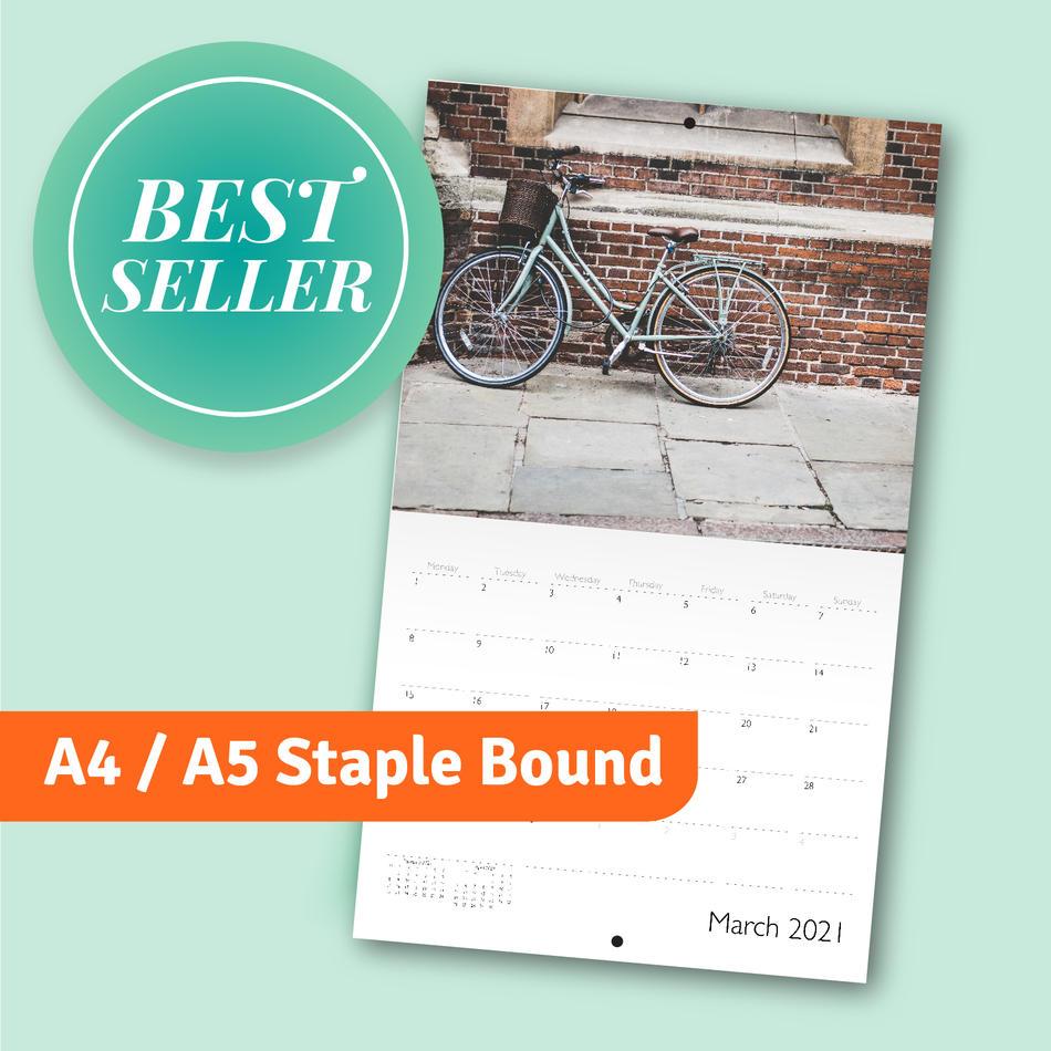 A4 / A5 Staple bound calendar