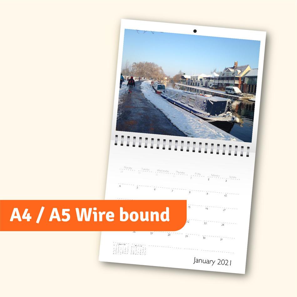 A4 / A5 Wire bound calendar