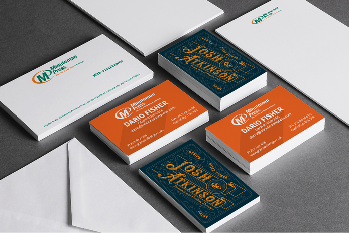 Professionally branded stationery suite