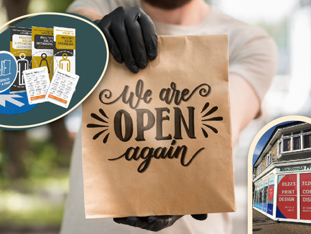 Celebrate reopening with refreshed printed branding & safety essentials