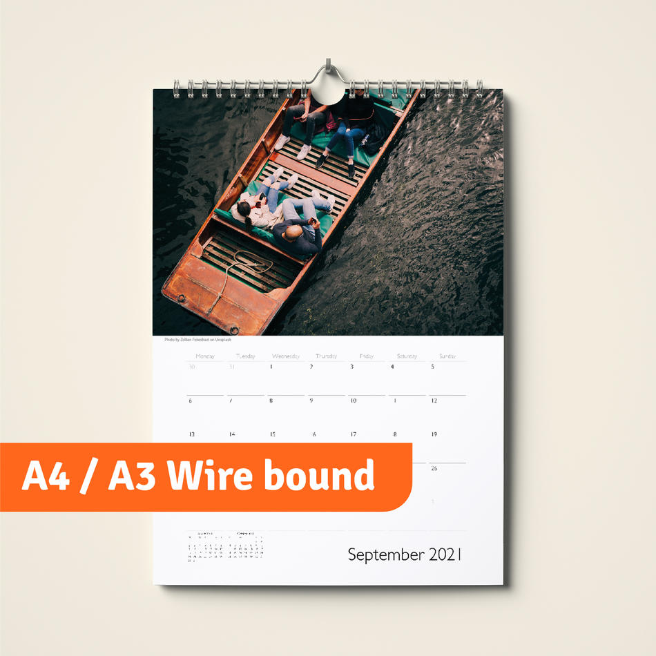 A4 / A3 Wire bound with hanger