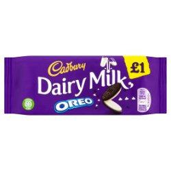 Cadbury Dairy Milk with Oreo £1 Chocolate Bar 120g