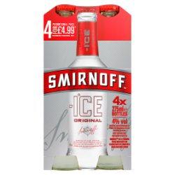 Smirnoff Ice Vodka Mixed Drink 4 x 275ml Premix Can PMP