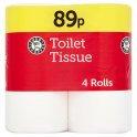 Euro Shopper Toilet Tissue 4 Rolls  PM 89p