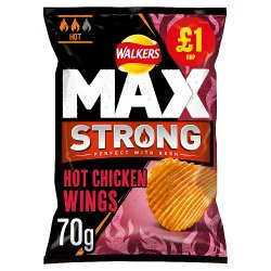 Walkers Max Strong Hot Chicken Wings 70g