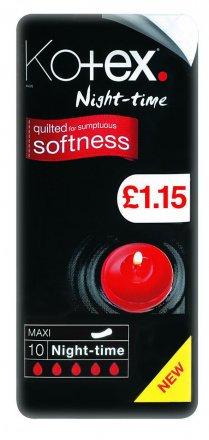 Kotex Maxi Night Time Sanitary Towel Pads PM £1.15