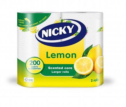 Nicky Kitchen Towels Lemon 2 Rolls