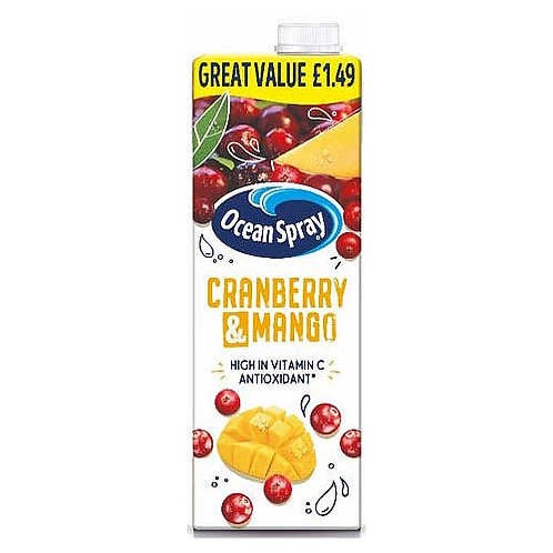 Ocean Spray Cranberry & Mango PM £1.49