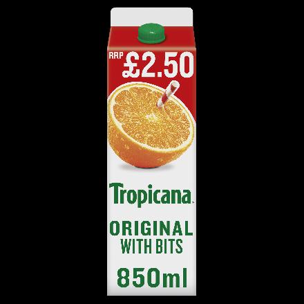 Tropicana Original Orange Juice with Bits PM £2.50
