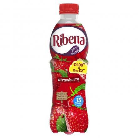 Ribena Strawberry PET PM £1.09 2 for £2