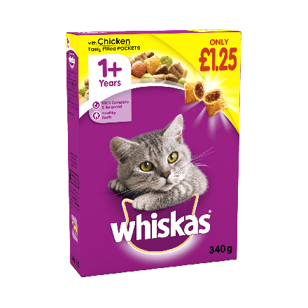 Whiskas 1+ Complete Dry with Chicken PM £1.25