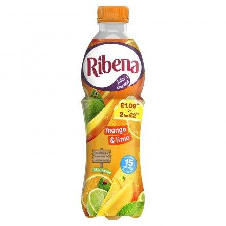 Ribena Mango & Lime  PM £1.09 2 for £2