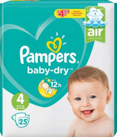 Pampers Baby Dry Maxi Size 4 PM £4.99