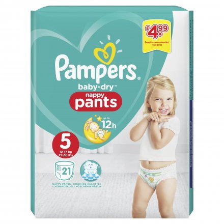 Pampers Baby Dry Nappy Pants S5 PM £4.99