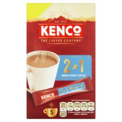 Kenco 2 in 1 Smooth White Instant Coffee Sachets x5