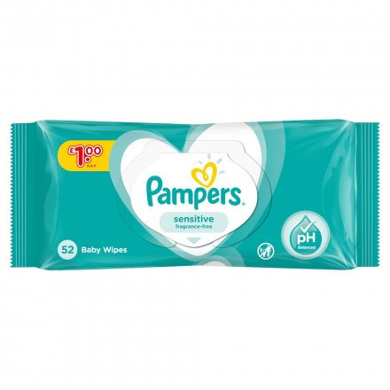 Pampers Sensitive Baby Wipes PM £1