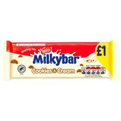 Milkybar Cookies and Cream White Chocolate Sharing Bar 90g PMP £1