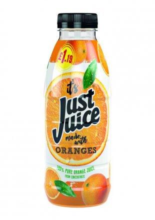 Just Juice Orange PM £1.19 500ml