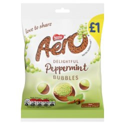 Aero Bubbles Peppermint Mint Chocolate Bag 80g